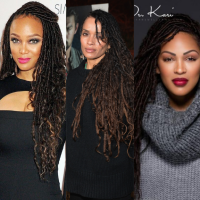 NOW TRENDING : Celebrities On Goddess Faux Locs