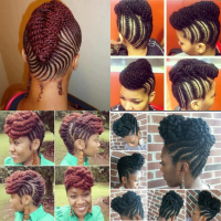 Natural Braids & Flat Twist Updo Styles To Try This Season