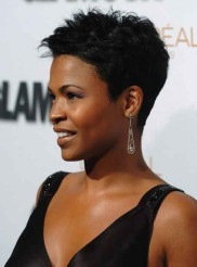 Celebrity-Short-Black-Hairstyles-for-Women