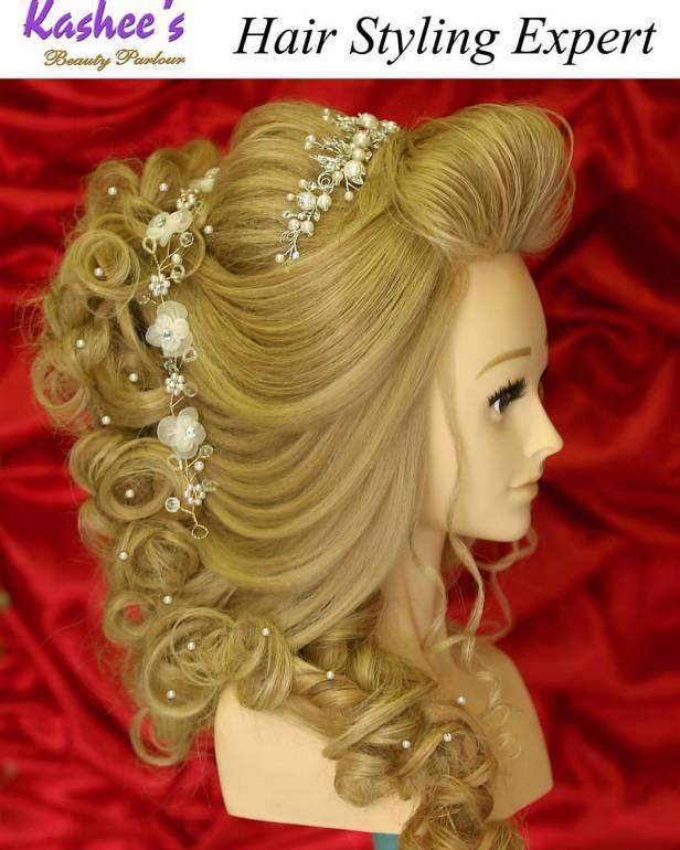 Bridal Hair At Its Best By Kashees Beauty Parlour Mamatrendy Blog
