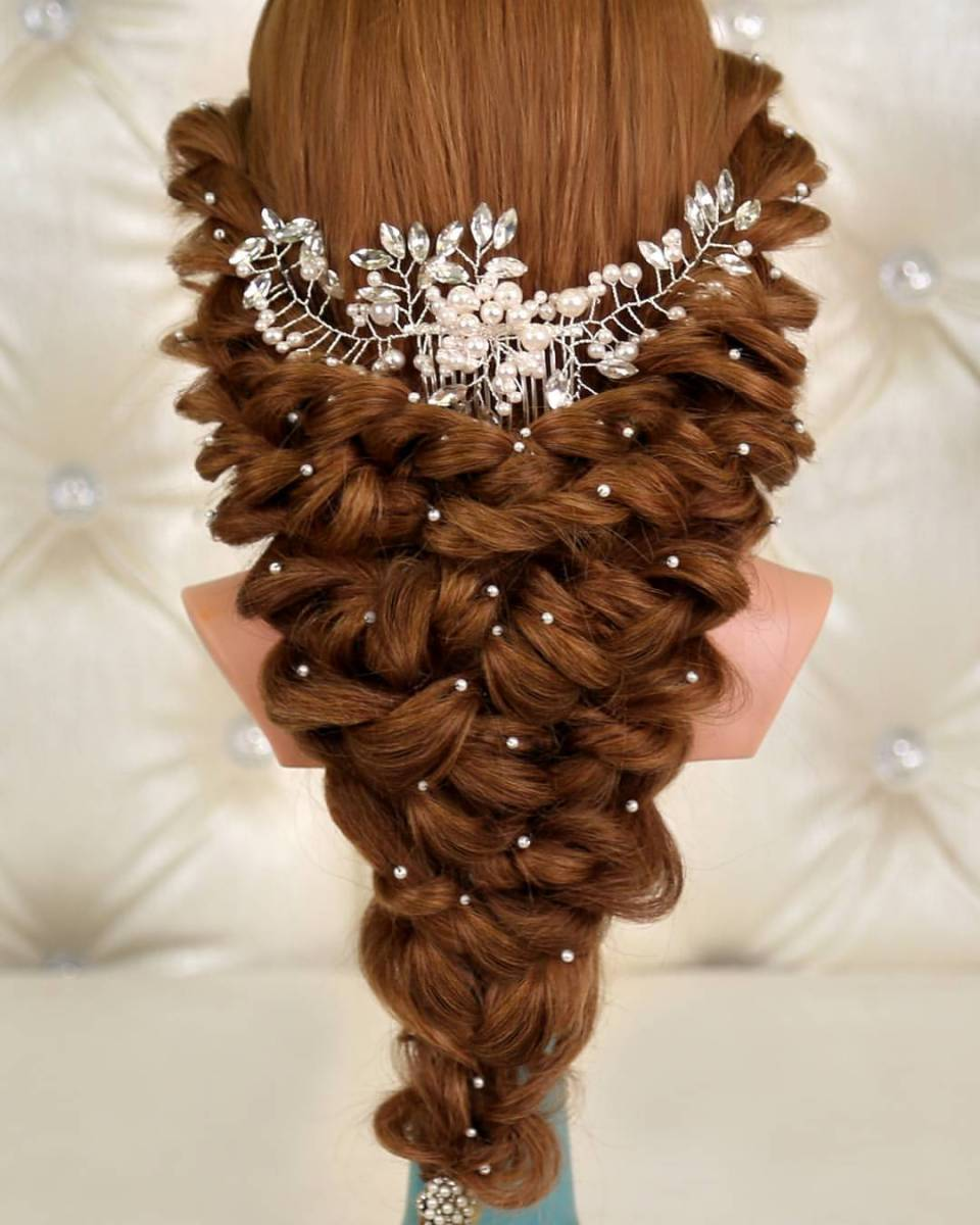 bridal hair at its best by kashee�s beauty parlour