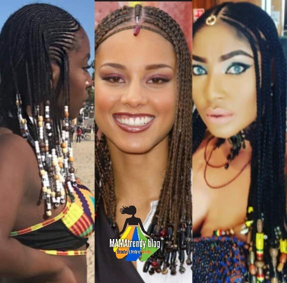 Celebrity Style Beads: NOW TRENDING : Tribal Braids #Alisiakeysbraids