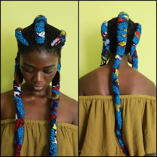 Now Trending Ankara Hair Wrap Ankara Braids