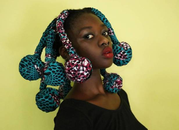 NOW TRENDING : Ankara Hair Wrap (Ankara Braids
